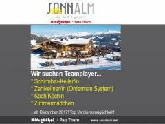 Kellner-Koch-Zimmermädchen auf der Sonnalm Kitzbühel-Passthurn